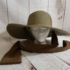 Karen Keith Paper/Poly Full Brimmed Hat Sz M